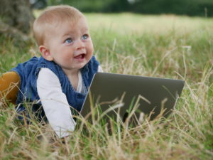 Baby at laptop